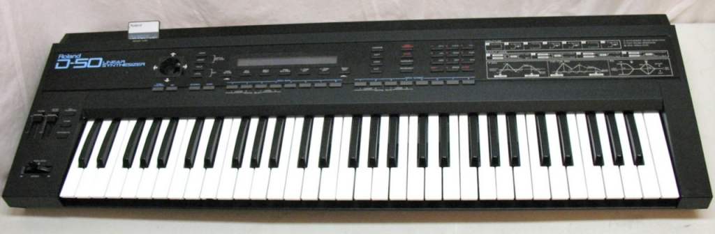 Vintage Synthesiser Keyboard - Roland D-50