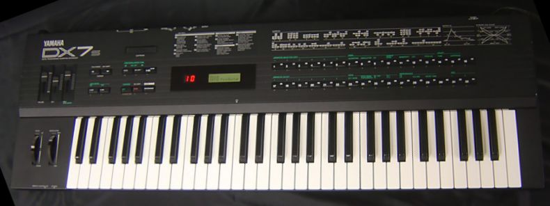 Vintage synthesiser keyboard - Yamaha DX7-S