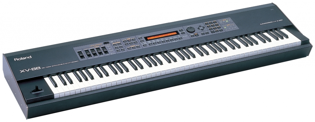 Full digital piano keyboard as alternative - Roland XV-88